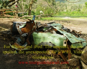 At Waipi'o Valley, numerous carcasses of cars that just couldn't hack the road lie along the jungle slope below the road: Photo by Donald B. MacGowan