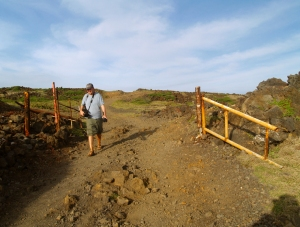 Eric Carr heads home after another day at the office at Tour Guide Hawaii...South Point, Hawaii: Photo by Donnie MacGowan