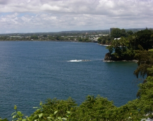 Hilo From the Northwest, Over the Bay: Photo by Prescott Ellwood