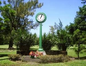The Deadly Tsunami of 1960 Stopped This Clock in Hilo; The Clock Now Stands As A Memorial To those Who Lost Their Lives: Photo by Donnie MacGowan