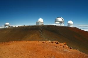 Huddle of Telescopes on Mauna Kea: Photo by Donnie MacGowan