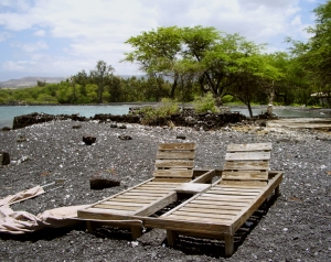 A relaxed lifestyle is enjoyed by the few, but extremely wealthy, residents of Kiholo Bay: Photo by Donald B. MacGowan
