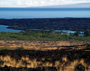 The View of Kiholo Bay From the Hawaii Belt Road: Photo  by Donald B. MacGowan