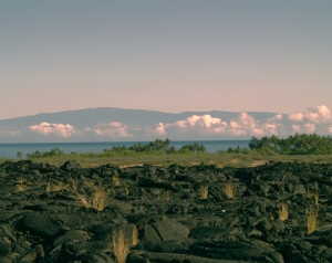 Sunset View of Haleakala on Maui From Kiholo Bay: Photo by Donald B. MacGowan