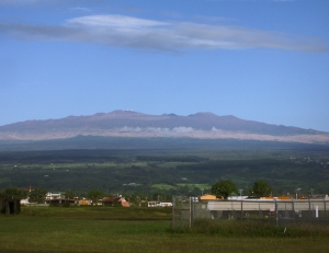 Mauna Kea from Hilo Airport: Photo by Donnie MacGowan