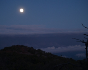 Mauna Kea Moon From the Visitor's Information Station: Photo by Donald MacGowan
