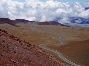 Mauna Kea Summit Road: Photo by Donnie MacGowan