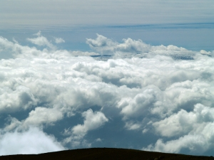 Mauna Loa Summit from Mauna Kea Summit: Photo by Donnie MacGowan