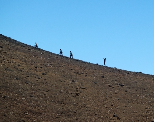 On the Way Up on Mauna Kea: Photo by Donnie MacGowan