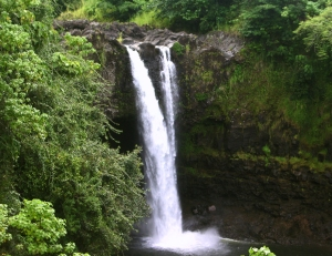 Hilo's Numerous Waterfall, Beach and Open Space Parks Are Inviting and Attractive: Photo by Donnie MacGowan