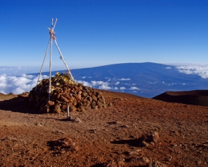 View from Mauna Kea Summit to Mauna Loa: Photo by Donnie MacGowan
