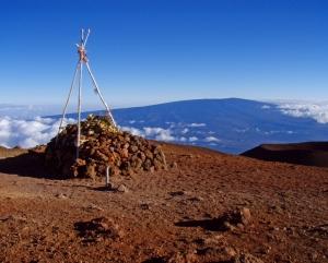 View from Mauna Kea Summit to Mauna Loa: Photo by Donnie MacGowan