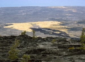 http://www.tourguidehawaii.com/iphone.html. The best of Tour Guide Hawaii's free content about traveling to, and exploring, the Big island, can be found here.For more information on traveling to Hawaii in general and on touring the Big Island in particular, please also visit www.tourguidehawaii.com and www.tourguidehawaii.blogspot.com.  New at iTunes: Hawaii Dream Vacation iPhone/iPod Touch App Puts the Magic of Hawaii in the Palm of Your Hand. Interactive maps, GPS and WiFi enabled, dozens of videos…available at iTunes or www.tourguidehawaii.com.     Escape Road headed uphill from Mauna Ulu parking lot, Hawaii Volcanoes National Park: Photo by Donald B MacGowan  For independent reviews of our product, written by some of our legions of satisfied customers, please check this out. All media copyright 2010 by Donald B. MacGowan. All rights reserved.