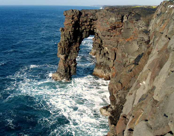 At Holei Sea Arch Hawaii Volcanoes National Park Photo By Donald - Landforms in hawaii