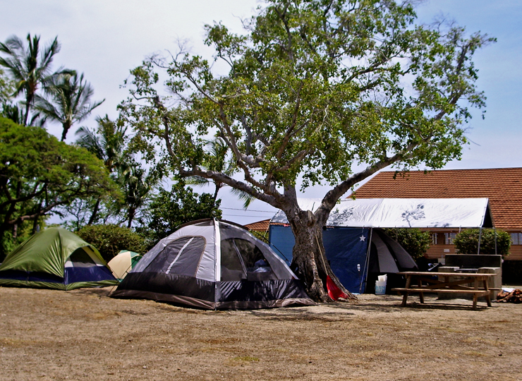 The Campground At Spencer Beach Park Has Room For Literally Dozens Of  Tents, Kohala Hawaii: Photo By Donald B MacGowan
